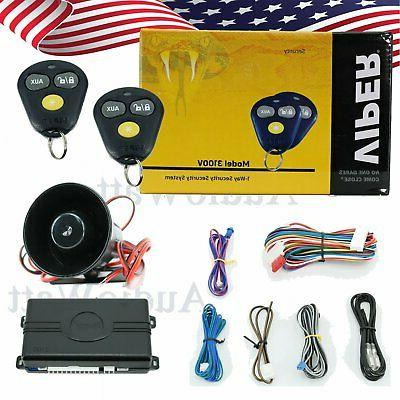 1-Way Car Auto Vehicle Alarm & Keyless Entry Siren Security