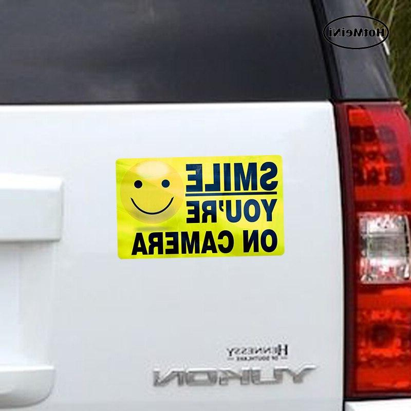 HotMeiNi Car Styling ON CAMERA <font><b>Stickers</b></font> <font><b>Alarm</b></font> <font><b>System</b></font> 13cm* .8cm