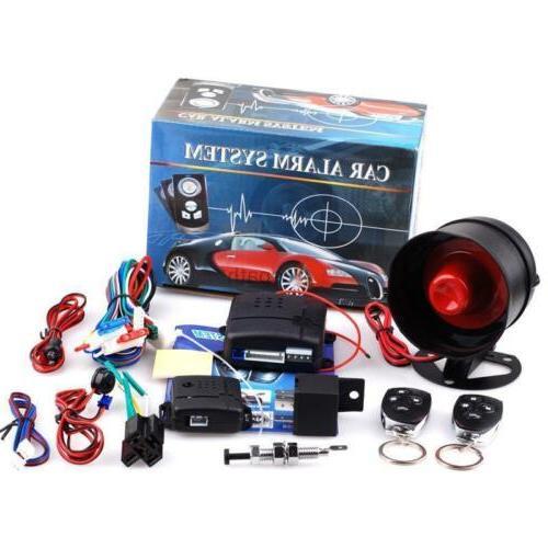 Car Vehicle Auto Burglar Alarm Keyless Entry anti-theft Secu