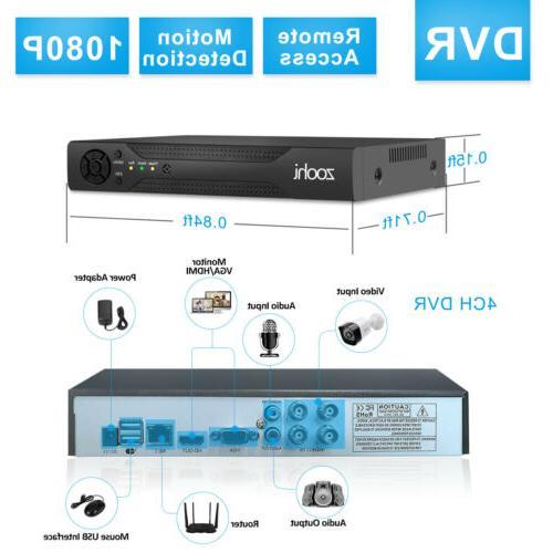 1080P Home System 2TB Drive 8CH DVR