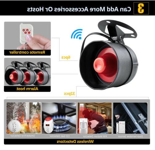 100dB Wireless Local Siren Speaker System 433MHz Security