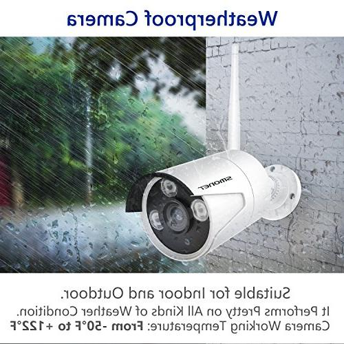 Wireless Camera 4CH Cameras,Support Detection & Remote iOS Android Hard