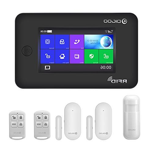 Digoo 433MHz Full Touch Screen GSM/&WiFi Smart Home Burglar Security Alarm System