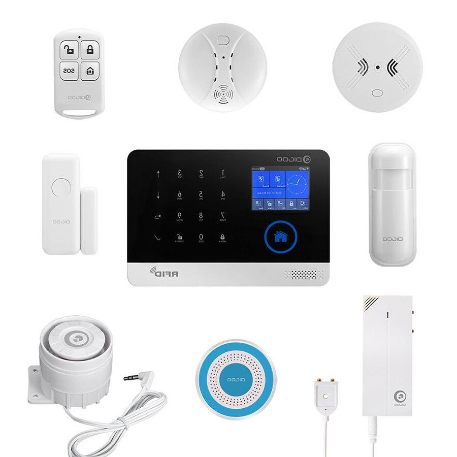 Digoo 433MHz GSM+WIFI Smart Alarm Kits