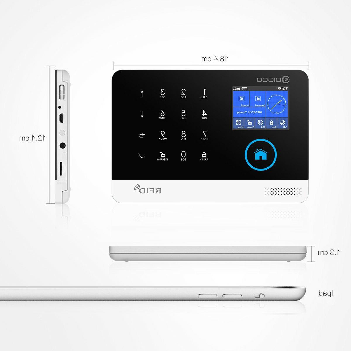 Digoo DG-HOSA WIFI APP GSM SMS Burglar Home System