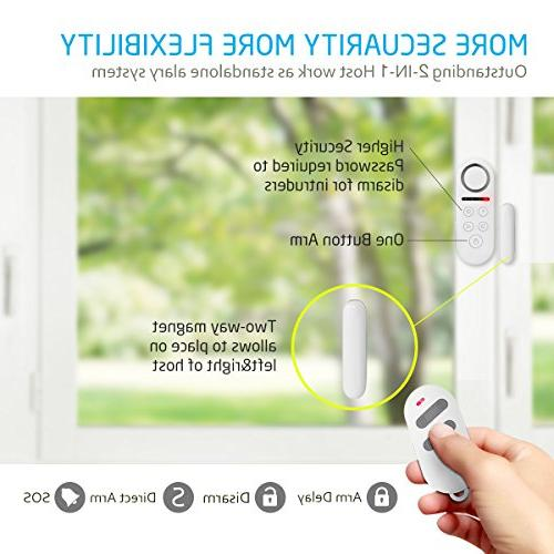 BIBENE Door System Home 4 Zones, Loud 2-In-1 Remote, Expandable Window Motion Required