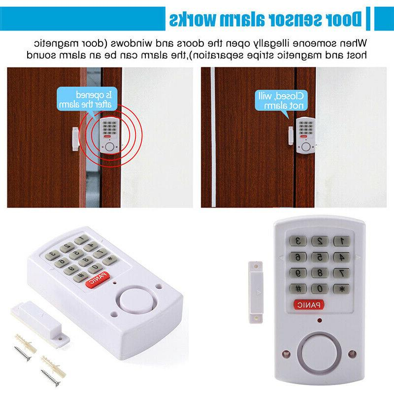 Door System Wireless Battery Burglar Chime Keypad Set