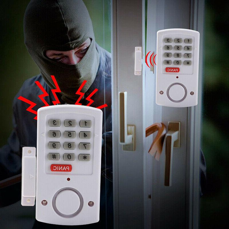 Door Window Alarm System Burglar Chime Keypad Set