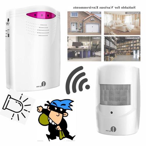 Driveway Alarm Wireless Sensor Alert System Long Range Receiver &