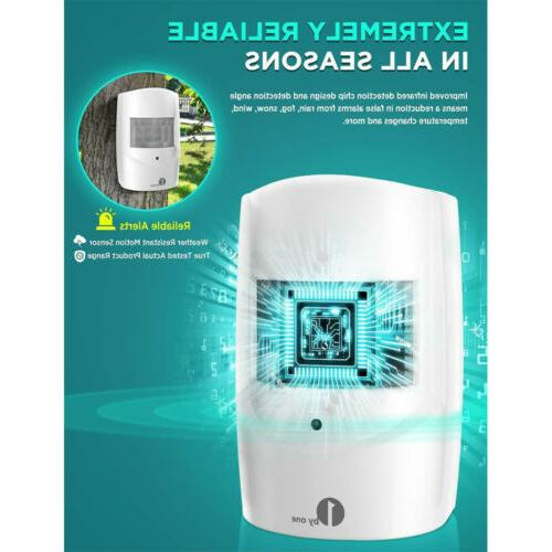 Driveway Wireless Motion Sensor Alert System Long Range &