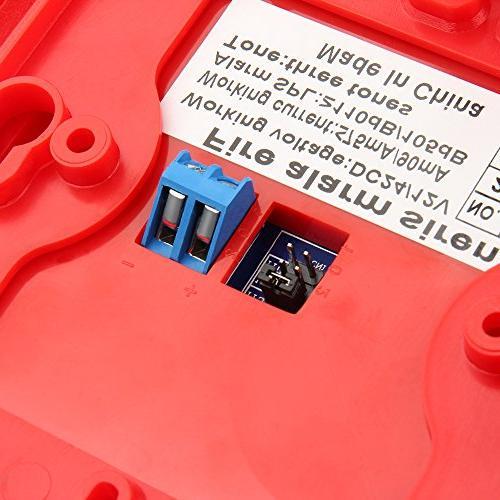 Generic Alarm Horn Siren Strobe Safety Sensor and 24V Red Wall for Office
