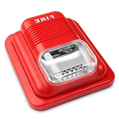 Generic Siren Strobe and White Flash 24V in Red with Wall Mount for Home Office