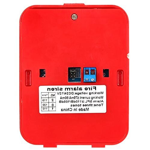 OWSOO Siren Alarm Strobe Alert Security Safety for Home, Office Restaurant,etc