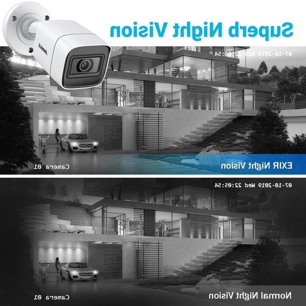 <font><b>ANNKE</b></font> 4X 8X Ultra 8MP Outdoor Waterproof Bullet Security Night Kit
