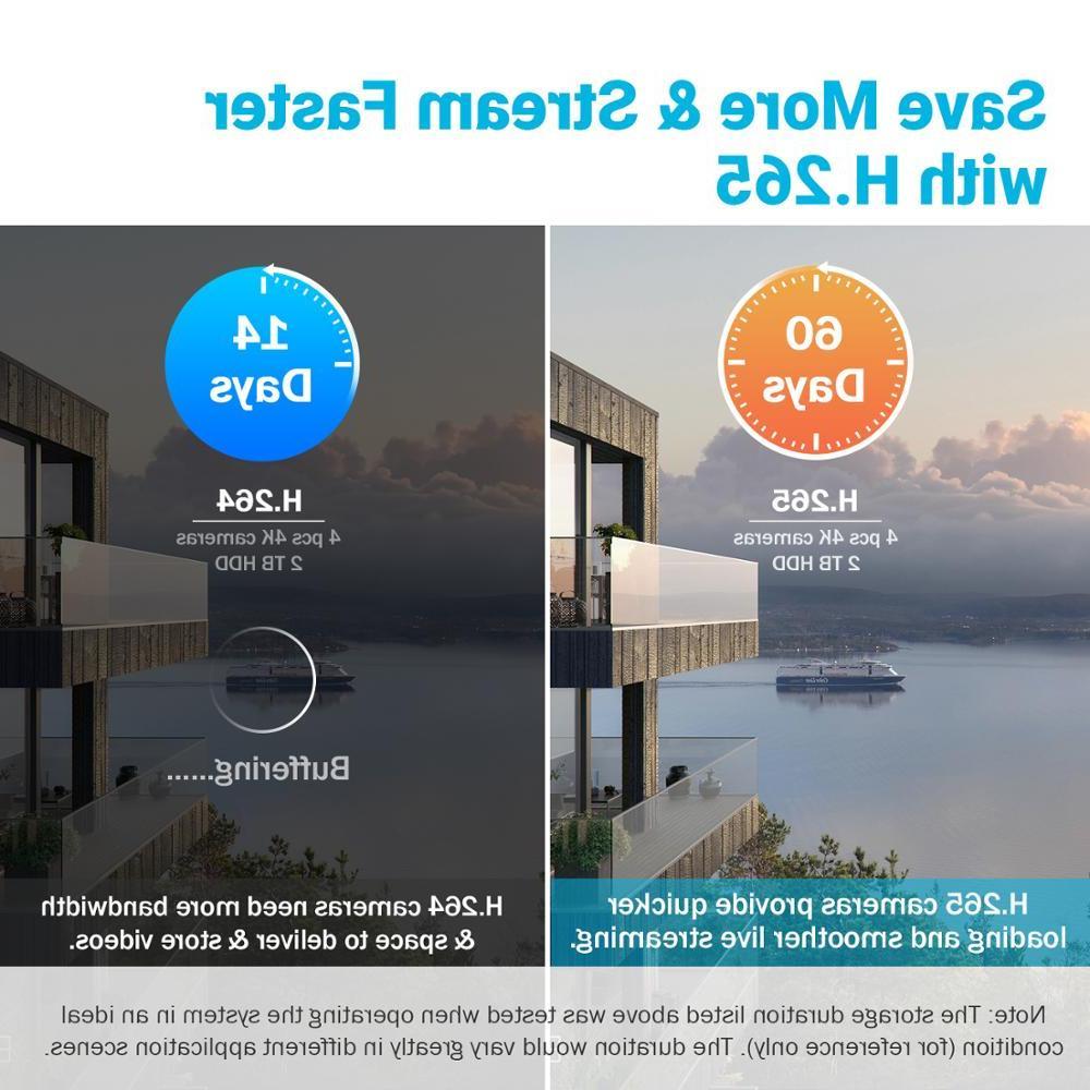 <font><b>ANNKE</b></font> HD 4K CCTV 8MP Outdoor Waterproof Bullet Security <font><b>System</b></font> EXIR Night Vision Email Alert Kit