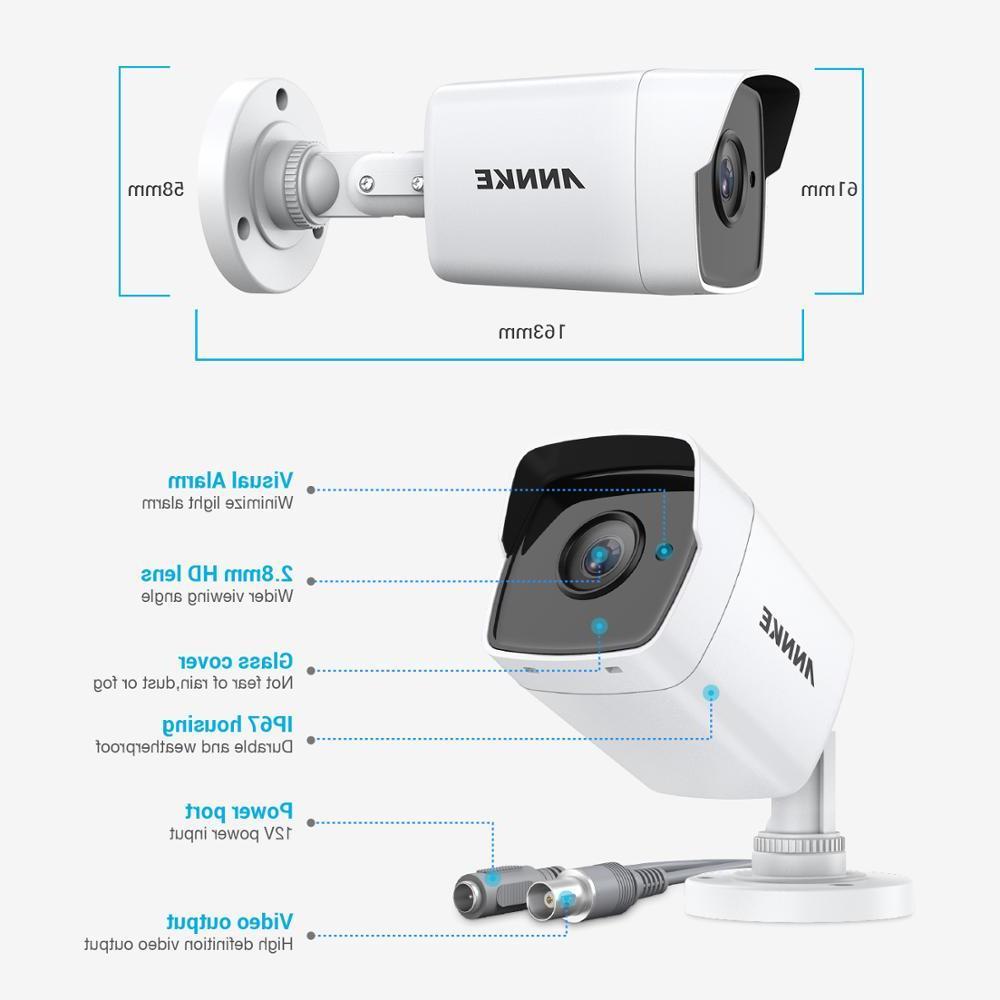 <font><b>ANNKE</b></font> 4X HD 5MP TVI Outdoor White Surveillance System Night Vision