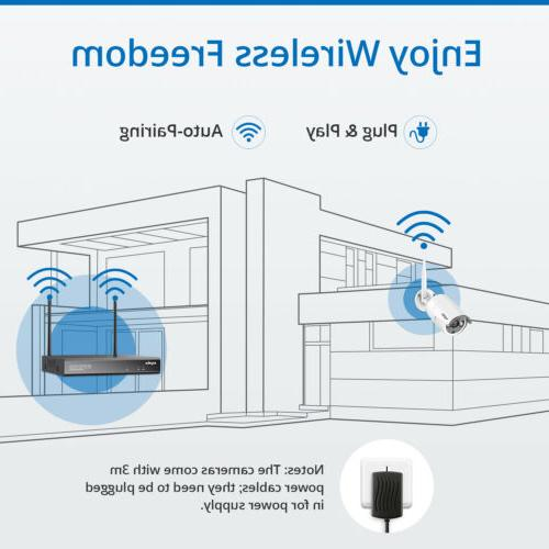 SANNCE IP 8CH 2MP NVR Email Alarm APP