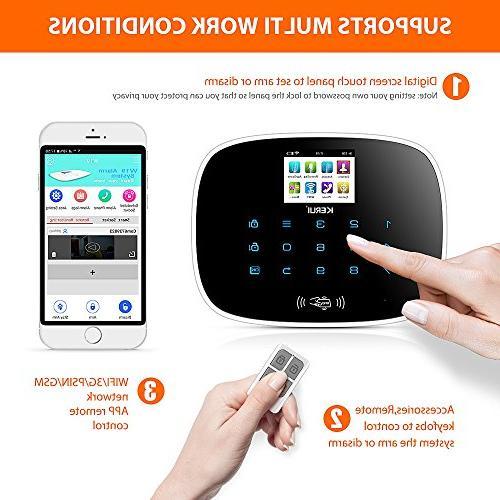 KERUI 3g gsm Smart Burglar Basic Alert,Expandable Up to Intrusion Sensors/Remote Monitoring No