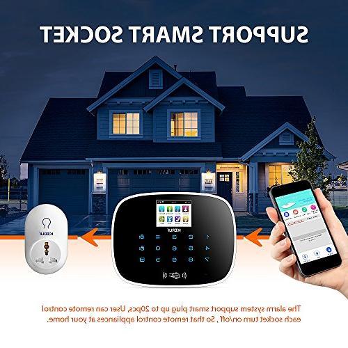 KERUI WiFi 3g gsm Burglar Alarm DIY Basic Auto Intrusion Keyfobs,24/7/365 Monitoring No Fee