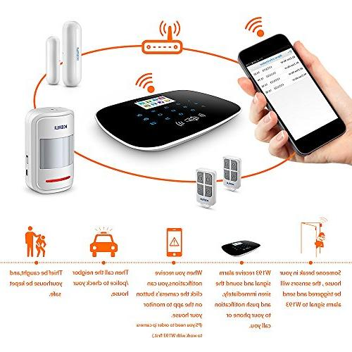 KERUI 3g gsm Home Basic Auto Alert,Expandable 99 Intrusion Sensors/Remote Keyfobs,24/7/365 No