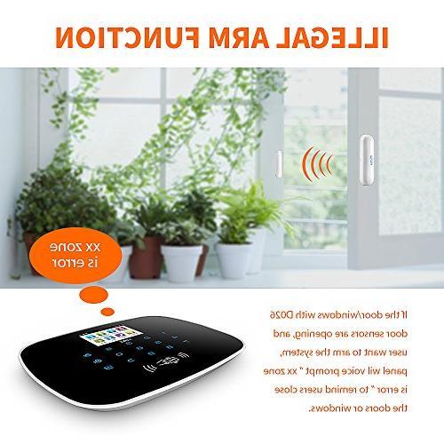 KERUI WiFi gsm Smart Burglar DIY Basic Auto Alert,Expandable Up to 99 Intrusion Sensors/Remote Keyfobs,24/7/365 No