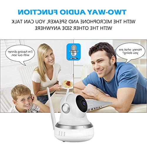 Golden GC-13H Wireless 1080P HD with Two-Way Vision & Pan/Tilt for Baby/Elder/Home Support Card IOS/Android/Mac Home Security