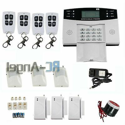 Home Wired GSM Security Alarm System Automatic Dialing Remot