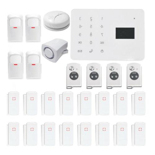 gsm sms home burglar security alarm system