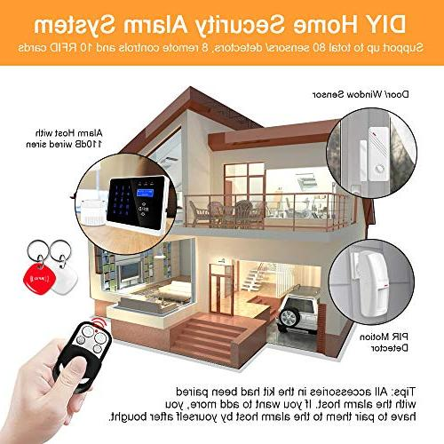 ERAY 3G WiFi Home System, Wireless Burglar Calling with 9 Door Detectors, 2 Cards and 2 Included