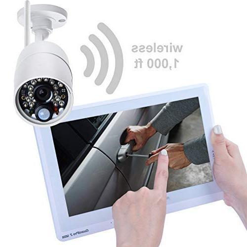 Sequro GuardPro2 Plus Wireless Long IP66 Outdoor Camera, Touchscreen Monitor, Night for Home, Driveway