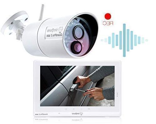 Sequro GuardPro2 Wireless Security Long Range Outdoor Monitor, Home, Warehouse, Driveway