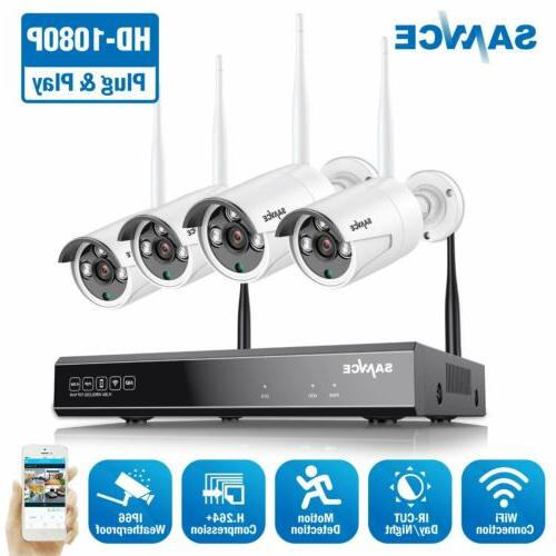 full 1080p wireless ip security camera system