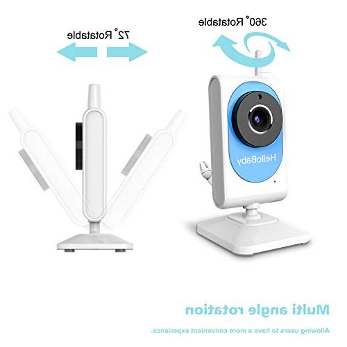 HelloBaby Wireless Monitor with Motion & Video Night Talk Audio, and