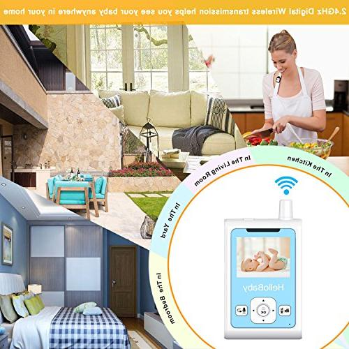 HelloBaby Wireless Video Baby Monitor & Alarm, Night Camera, Talk and Long Range