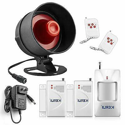 Home Security Alarm Siren Burglar System Loud Wireless Motio