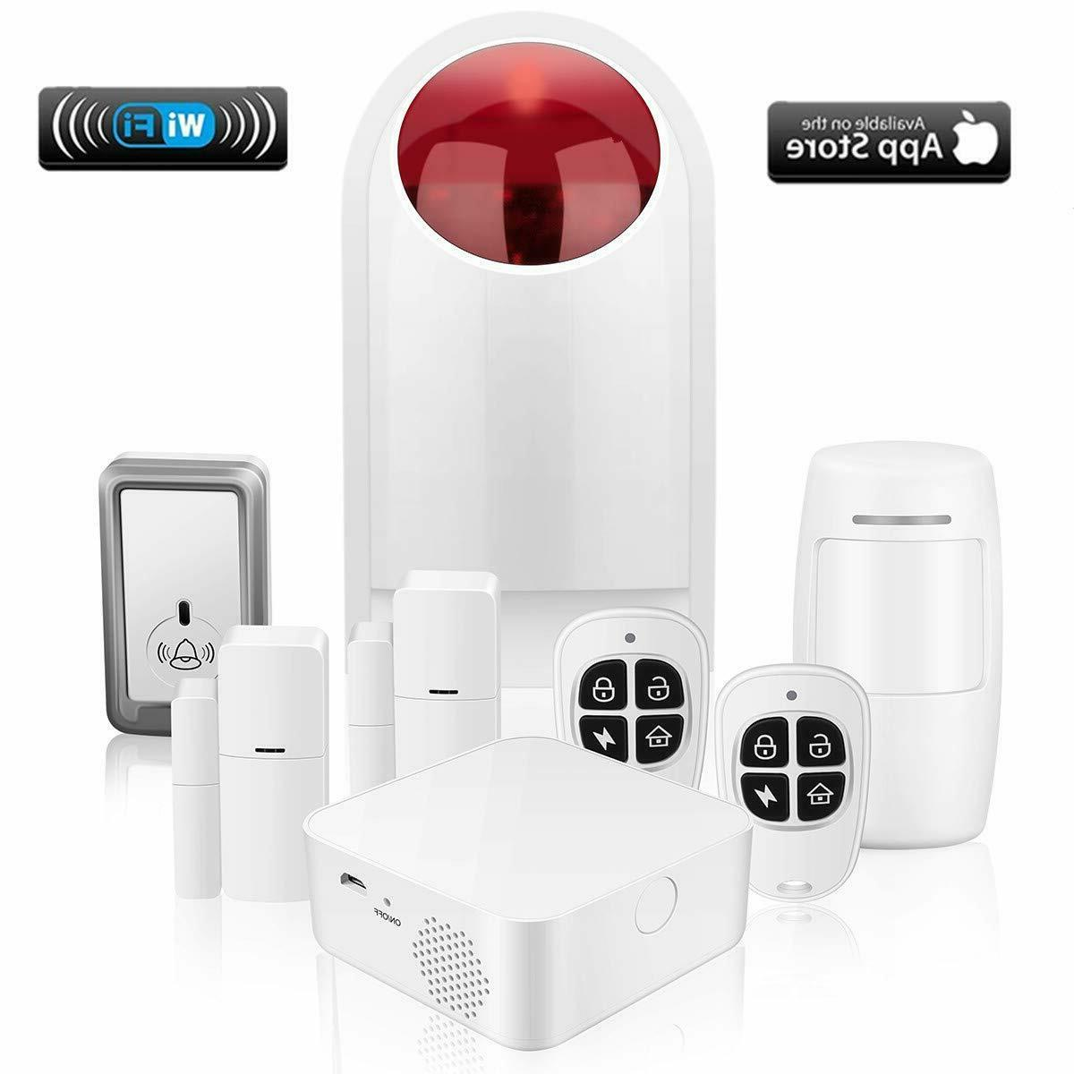 home security system wifi alarm system kit