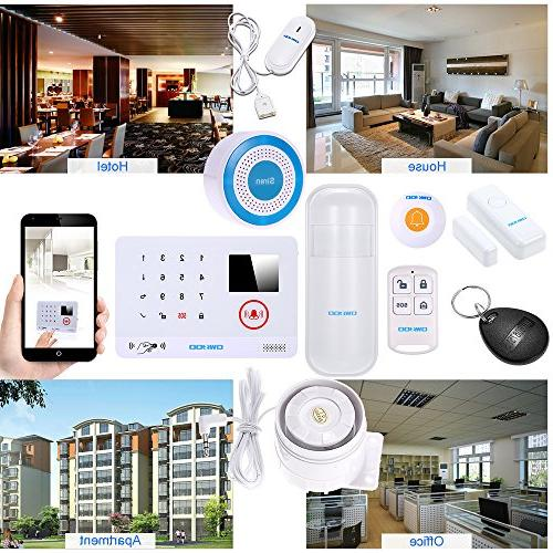 OWSOO Wireless Security Wireless 3G SMS System Door LCD Display App Control