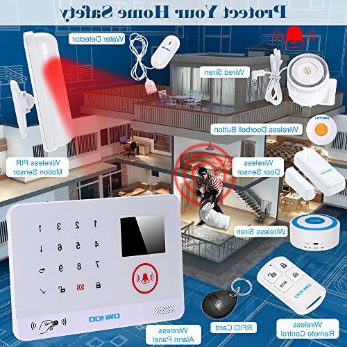 OWSOO Home Alarm Security Auto-dial 3G SMS System Door LCD Wired Wireless Siren Phone App Remote
