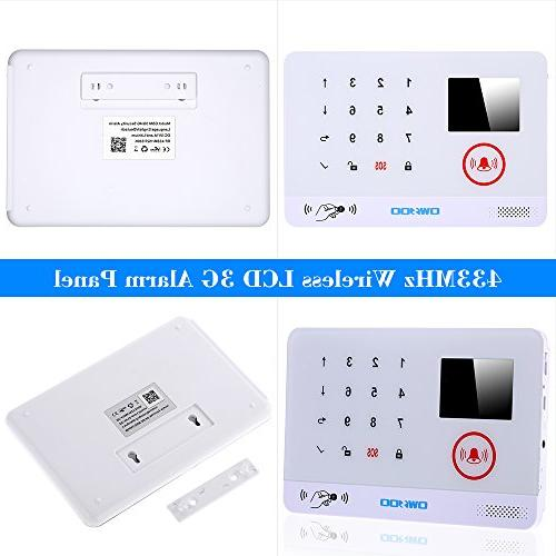 OWSOO Wireless Security 3G SMS System Water Sensor LCD Display Wireless Phone App Control
