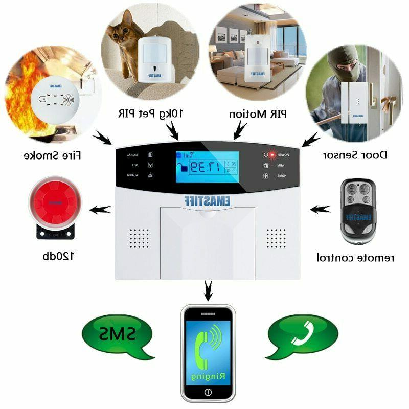 IOS Android APP Control Wireless Home Security GSM Alarm
