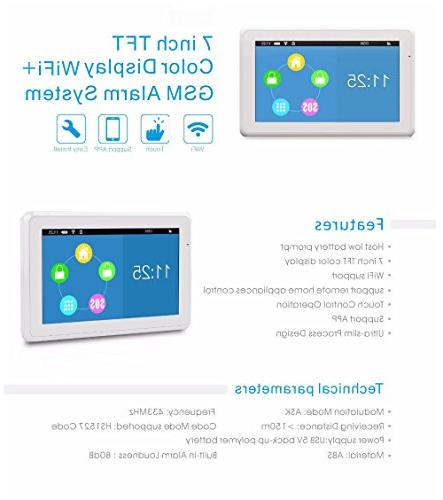 WIFI/GSM Inch Display Home/House Burglar Intruder DIY APP Complete Home Security