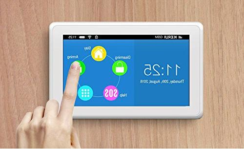 KERUI K7 WIFI GSM Smart Home Alarm Full Free IOS/Android Control