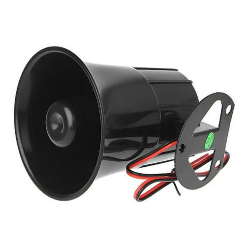 12V Sound Loud Car Warning Alarm Police Fire Siren Horn Spea