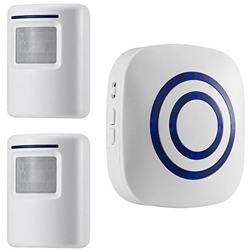 WJLING Motion Wireless Security 2 Receiver Chime - LED