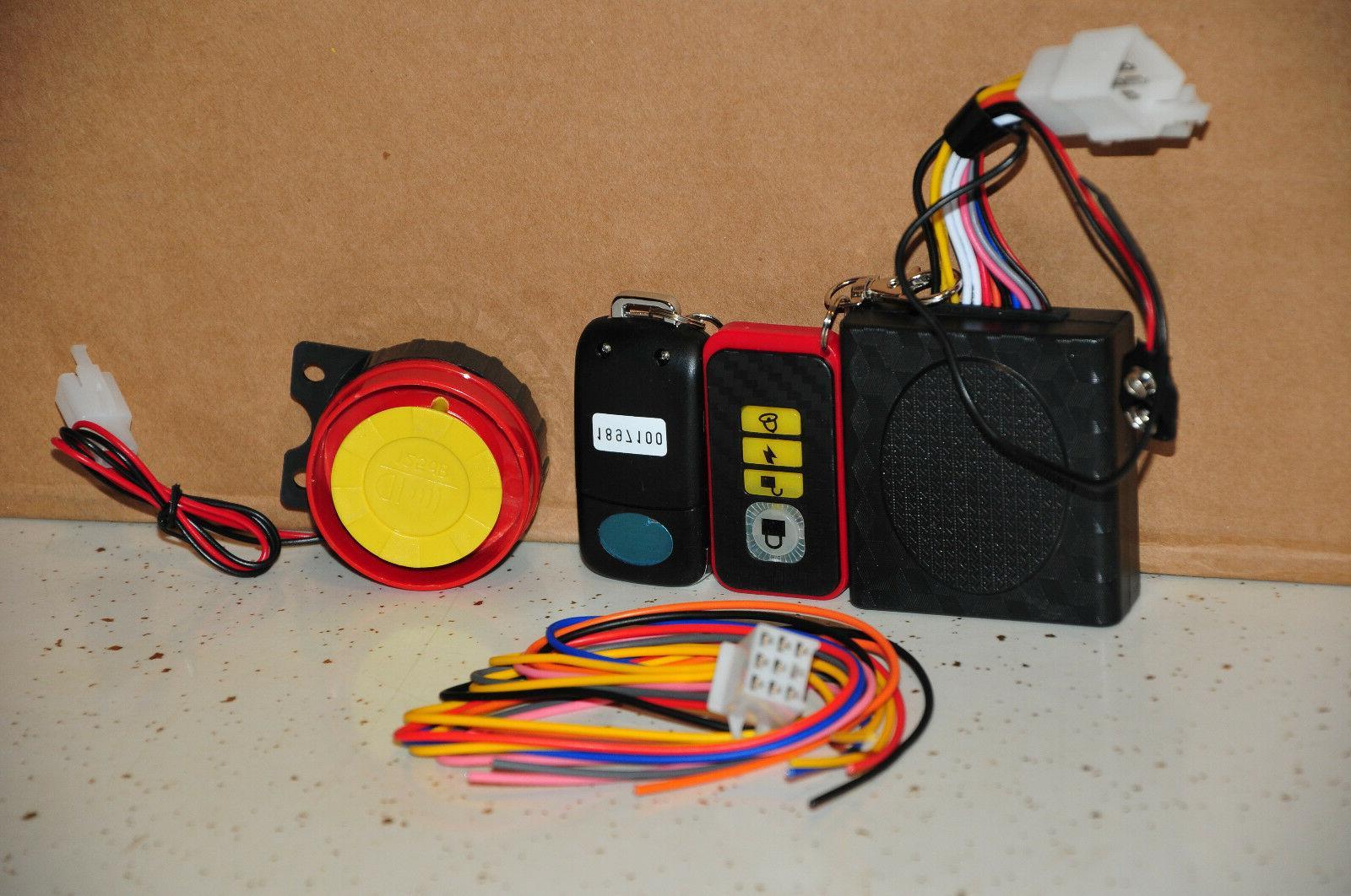 motorcycle security kit alarm system anti hijacking