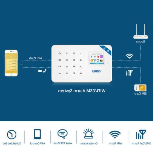 W18 WIFI GSM Home Burglar Security Alarm System Wireless Acc