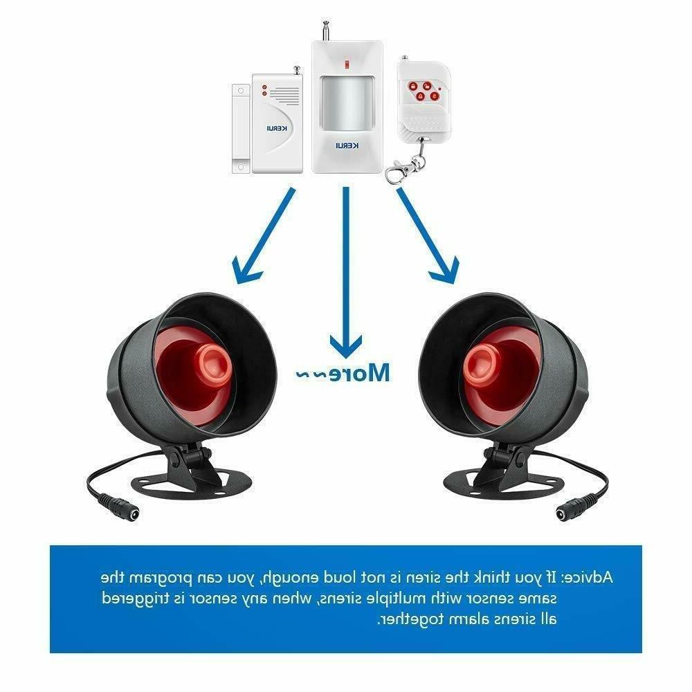 NEW KERUI Standalone Office Alarm Kit, Loud