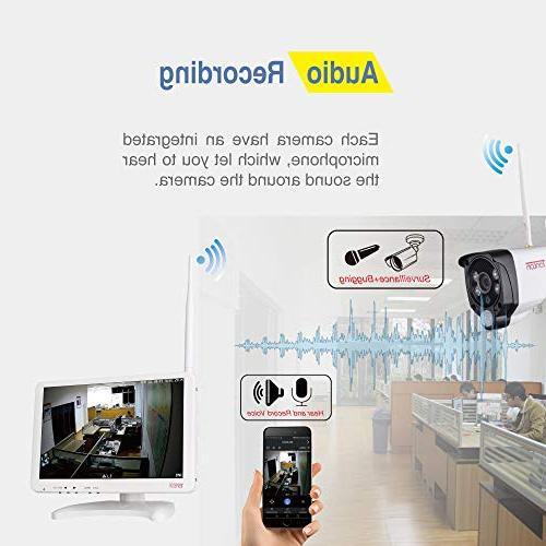 Tonton All-in-One 1080P Wireless, 8CH WiFi 1TB 1080P 2.0 Outdoor Audio PIR Sensor