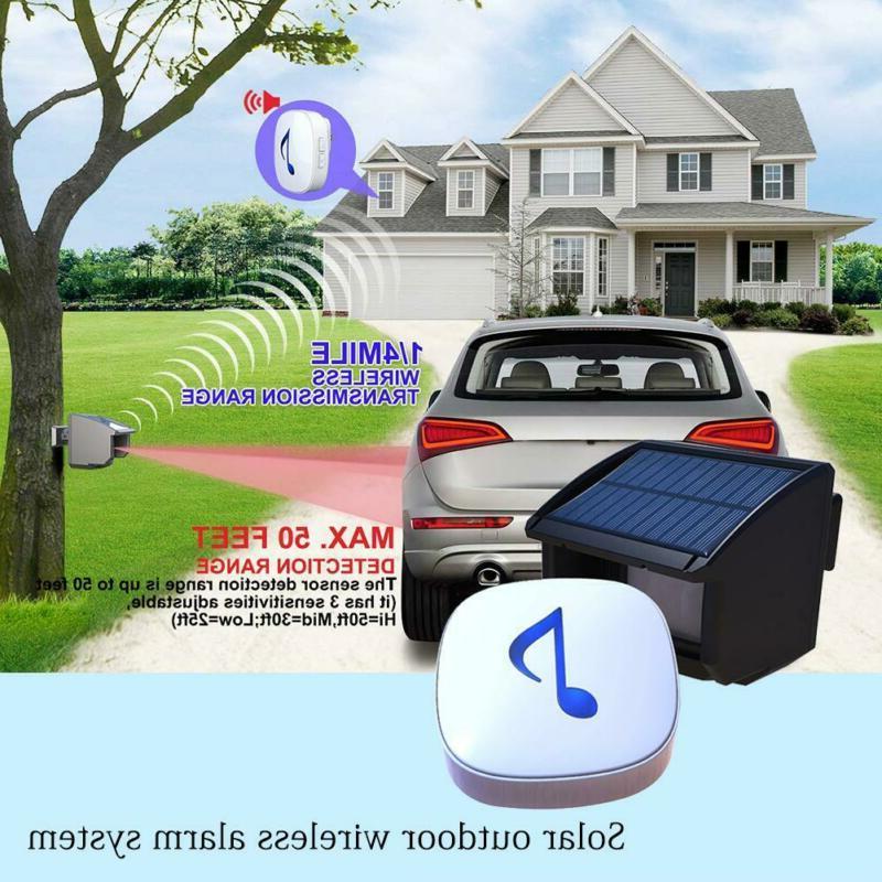 outdoor wireless alarm weatherproof motion sensor security