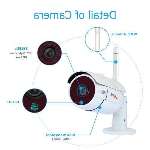 Outdoor Wireless Surveillance HD CCTV Home 2TB